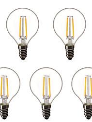 Недорогие -5 шт. 1.5 W Круглые LED лампы LED лампы накаливания 200 lm E14 E26 / E27 G45 2 Светодиодные бусины Высокомощный LED Декоративная Тёплый белый 220-240 V 220 V 230 V