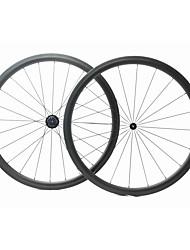 Недорогие -FARSPORTS 700CC Колесные пары Велоспорт 25 mm Шоссейный велосипед Углеродное волокно Однотрубка 20/24 Спицы 38 mm