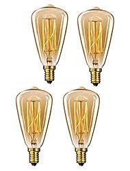 Недорогие -4 шт. 40 Вт e14 st48 теплый белый 2200-2800 К ретро затемнения декоративные лампы накаливания винтаж Эдисон лампочка 220-240 В