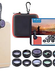 Недорогие -Объектив для мобильного телефона Объектив с фильтром / Объектив фиш-ай / Длиннофокусный объектив стекло / Алюминиевый сплав 2X 20 mm 15 m 198 ° Очаровательный / Cool