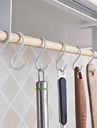 billige -Høy kvalitet med Tre / Jern Racks & Holders / Sugekoprengjøringshylle For kjøkkenutstyr / Originale kjøkkenredskap Kjøkken Oppbevaring 1 pcs