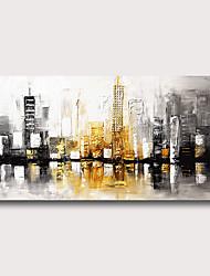 preiswerte -Hang-Ölgemälde Handgemalte - Abstrakt Abstrakte Landschaft Zeitgenössisch Modern Fügen Innenrahmen