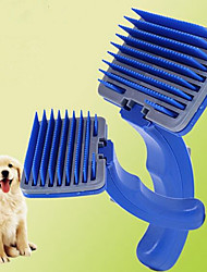 povoljno -Male krznene životinje Četke Combs Prijenosno Plava