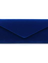 Недорогие -Жен. Полиэстер Вечерняя сумочка Сплошной цвет Красный / Темно-синий / Миндальный / Наступила зима