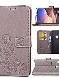 Недорогие -Кейс для Назначение Xiaomi Xiaomi Mi Play / Xiaomi Mi Max 3 / Xiaomi Mi 8 Бумажник для карт / со стендом / Магнитный Чехол Цветы Твердый Кожа PU / Xiaomi Mi 6