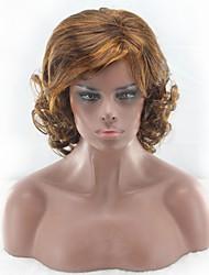 ieftine -Peruci Sintetice Ondulat Stil Partea centrală Fără calotă Perucă Maro Maro Deschis Păr Sintetic 22 inch Pentru femei Dame Maro Perucă Lung Perucă Naturală