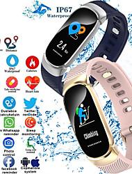 Недорогие -Indear QW16 Женский Умный браслет Android iOS Bluetooth Smart Спорт Водонепроницаемый Пульсомер Измерение кровяного давления / Датчик для отслеживания активности / Датчик для отслеживания сна