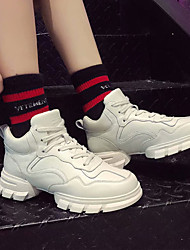 abordables -Mujer Zapatos de hip hop y baile callejero PU Zapatilla Tacón Plano Zapatos de baile Blanco