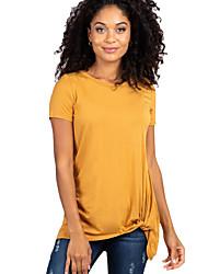 billige -T-skjorte Dame - Ensfarget, Blondér Hvit L