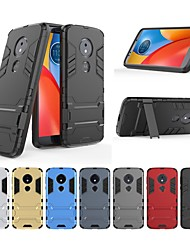 cheap -Case For Motorola MOTO E4 Shockproof / with Stand Back Cover Solid Colored / Armor Hard PC for Moto E5