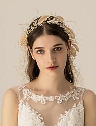 baratos -Liga Headbands / Decoração de Cabelo com Cristais 1 Pça. Casamento / Festa / Noite Capacete