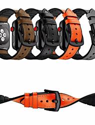 voordelige -Horlogeband voor Apple Watch Series 4/3/2/1 Apple Klassieke gesp Echt leer Polsband