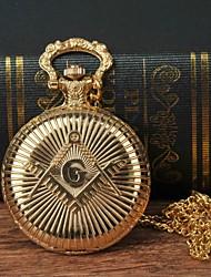 Недорогие -Муж. Карманные часы Кварцевый Золотистый Повседневные часы Крупный циферблат Аналоговый Мода Часы с текстом - Золотистый