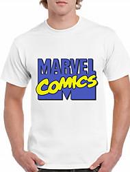 お買い得  -男性用 Tシャツ レタード ホワイト XL
