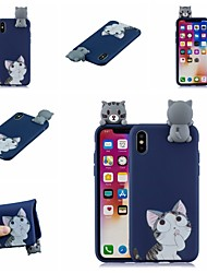 billige -Etui Til Apple iPhone XR / iPhone XS Max Mønster Bagcover Kat / Tegneserie Blødt TPU for iPhone XS / iPhone XR / iPhone XS Max