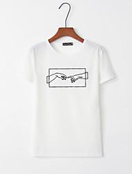 billige -T-skjorte Dame - Grafisk, Trykt mønster Hvit M