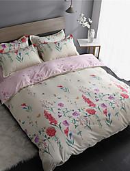 levne -Povlečení Květinový / Současné Polyester S potiskem 4 kusyBedding Sets
