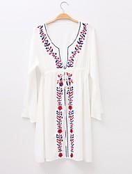 abordables -Mujer Básico Blanco Una Pieza Bañadores - Geométrico Bordado Tamaño Único Blanco