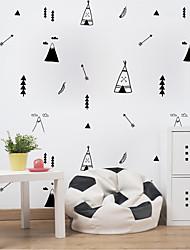 Недорогие -Декоративные наклейки на стены - Простые наклейки Животные / Геометрия Детская