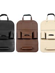 billige -universel 3 farve pu læder bil sæde ryg opbevaring taske arrangør rejse kasse lomme staging rydder protector kids