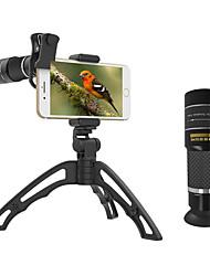 Недорогие -Объектив для мобильного телефона Длиннофокусный объектив стекло 10Х и более 32 mm 3 m 9.8 ° Линза / объектив со стендом