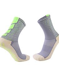 Недорогие -Взрослые Футбольные носки Хлопок Муж. Носки Футбол Бег Дышащий Впитывает пот и влагу Для спорта и активного отдыха 1 пара / Слабоэластичная