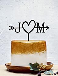 Недорогие -Украшения для торта Классика / Креатив / Свадьба На заказ / Романтика Акрил Свадьба / Для вечеринок с Однотонные 1 pcs Пенополиуретан