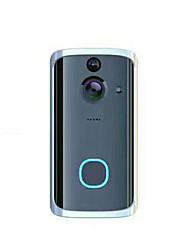 voordelige -M7 Draadloze 2.4GHz Gefotografeerd / Opname Geen Screen (output door APP) Telefoon 720 Pixel One to One video deurintercom