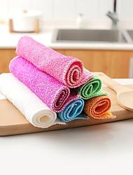 tanie -Kuchnia Środki czystości Włókno bambusowe gąbki z mikrofibry Szczotka i ścierka do czyszczenia Univerzál Trwały 6 szt.