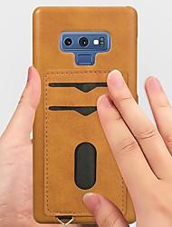 halpa -Etui Käyttötarkoitus Samsung Galaxy Note 9 / Note 8 Korttikotelo / Iskunkestävä / Tuella Takakuori Yhtenäinen Kova PU-nahka varten Note 9 / Note 8