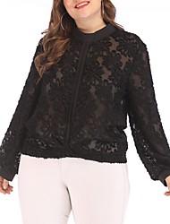 お買い得  -女性用 シャツ ソリッド ブラック XXL