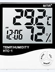 abordables -HTC-1 Smart / Múltiples Funciones Despertador termómetro electrónico -10℃~50℃ Vida hogareña, para bebé adulto, Medición de temperatura y humedad.