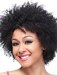 billige -Syntetiske parykker Afro Kinky Stil Gratis del Lågløs Paryk Sort Sort og Guld Brun / Bourgogne Syntetisk hår 14 inch Dame Dame / syntetisk / Til sorte kvinder Sort / Brun Paryk Kort Naturlig paryk