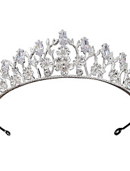cheap -Alloy Tiaras with Sparkling Glitter 1 Piece Wedding / Party / Evening Headpiece