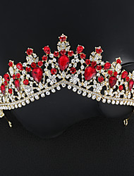 cheap -Crystal / Alloy Tiaras with Crystal 1 Piece Wedding / Special Occasion Headpiece