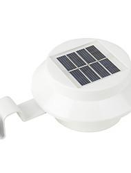 billige -1pc 0.3 W Solar Wall Light Vanntett / Solar / Lysstyring Varm hvit / Hvit 1.2 V Utendørsbelysning / Courtyard / Have 3 LED perler