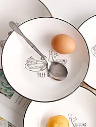 hesapli -1 parça Yemek Tabakları Servis Tabağı yemek takımı Porselen Seramik Sevimli Yaratıcı