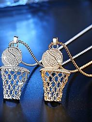 baratos -Mulheres Claro Geométrico Colar Na moda Legal Dourado Prata 30 cm Colar Jóias 1pç Para Diário