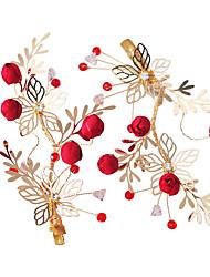 Χαμηλού Κόστους -Τούλι Τεμάχια Κεφαλής με Λουλούδι Ένα Ζευγάρι Γάμου / Συγχαρητήρια Headpiece