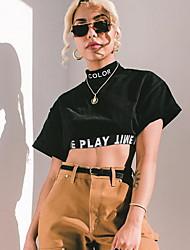 olcso -Női Póló - Szöveg Fekete S