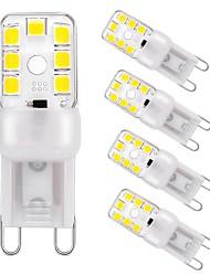 preiswerte -3 W LED Doppel-Pin Leuchten 240 lm G9 T 12 LED-Perlen SMD 2835 Abblendbar Dekorativ Warmes Weiß Kühles Weiß 220 V, 5 Stück