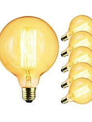 Недорогие -6шт 40 W E26 / E27 G125 Прозрачный Body Лампа накаливания Vintage Эдисон лампочка 220-240 V / 110-120 V
