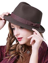 preiswerte -Wollfilz Hüte mit Horizontal gerüscht / Farbeinheit 1 Stück Freizeitskleidung / Kentucky Derby Kopfschmuck