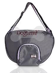 hesapli -Köpekler Kediler Taşıyıcı & Seyahat Sırt Çantaları Omuz çantası Evcil Hayvanlar Taşıyıcı Su Geçirmez Taşınabilir Mini Solid Gri Siyah