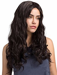 cheap -Synthetic Wig Body Wave Style Middle Part Capless Wig Black Black / Gold Synthetic Hair 26 inch Women's Women / Synthetic / Fashion Black Wig Long Natural Wigs