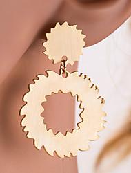 levne -Dámské Stříbrná Zlatá Geometrické Visací náušnice Náušnice Gear Evropský Šperky Zlatá / Stříbrná Pro Denní 1 Pair
