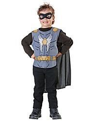 preiswerte -Superheld Cosplay Kostüme Kinder Jungen Cosplay Halloween Halloween Karneval Maskerade Fest / Feiertage Polyester Schwarz Karneval Kostüme Print