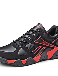 cheap -Men's Comfort Shoes Synthetics Spring Sporty / Casual Sneakers Running Shoes / Walking Shoes Non-slipping Color Block Black / Red / Black / Blue / Black / Yellow