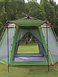Недорогие -Hewolf 8 человек Семейный кемпинг-палатка На открытом воздухе С защитой от ветра Дожденепроницаемый Пригодно для носки Двухслойные зонты Карниза Палатка >3000 mm для