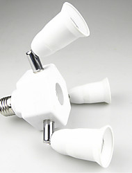 billiga -1st E27 till 3 + 1 E27 E26 / E27 100-240 V Omvandlare Plast Lampa sockel